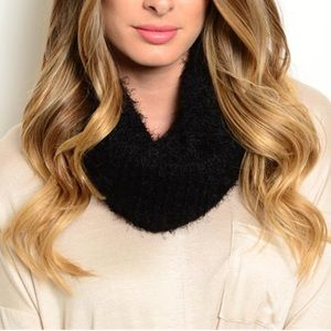 Black Soft and Fuzzy Chic Infinity Scarf